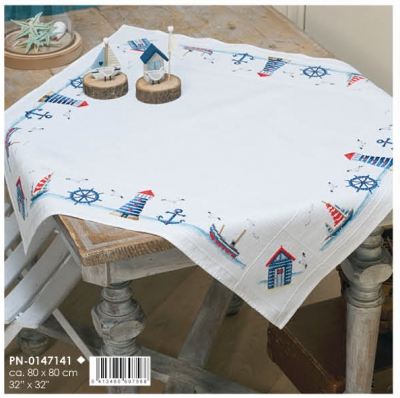 click here to view larger image of Maritime Design - Tablecloth (counted cross stitch kit)