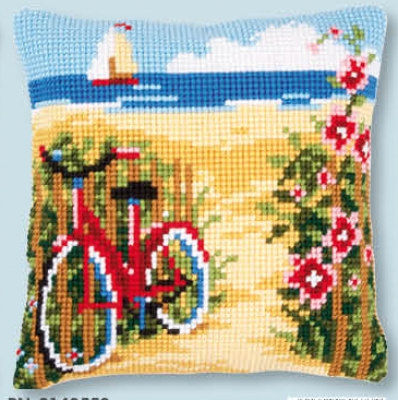 click here to view larger image of At The Beach - Cushion (counted cross stitch kit)