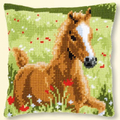 click here to view larger image of Foal - Cushion (counted cross stitch kit)