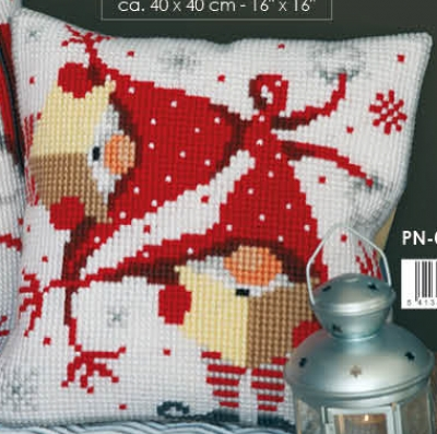 click here to view larger image of Christmas Gnome II - Cushion (counted cross stitch kit)