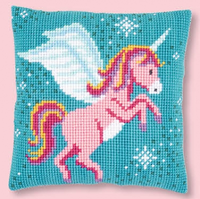 click here to view larger image of Unicorn - Cushion (counted cross stitch kit)