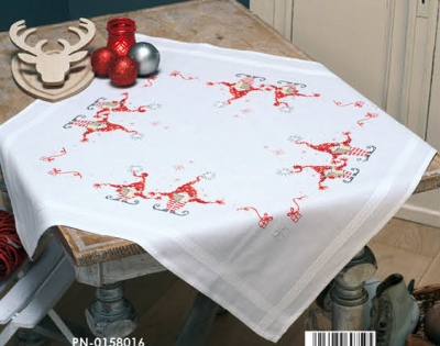 click here to view larger image of Christmas Ghomes - Tablecloth (counted cross stitch kit)