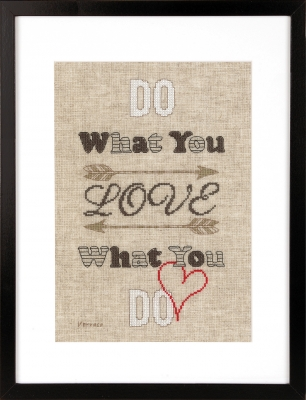 click here to view larger image of Do What You Love (chunky cross stitch kit)