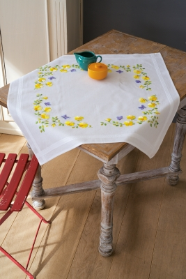 click here to view larger image of Spring Flowers - Tablecloth (chunky cross stitch kit)