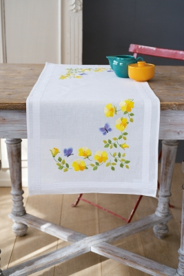 click here to view larger image of Spring Flowers - Table Runner (chunky cross stitch kit)
