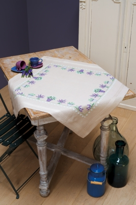 click here to view larger image of Lavender - Tablecloth (chunky cross stitch kit)