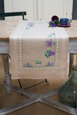 click here to view larger image of Lavender - Table Runner (chunky cross stitch kit)