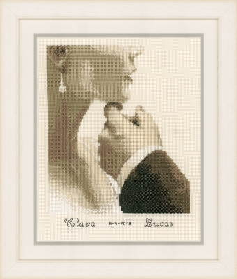 click here to view larger image of Bride and Groom (counted cross stitch kit)