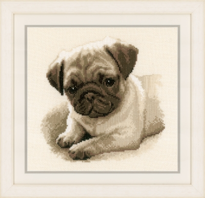 click here to view larger image of Pug (counted cross stitch kit)