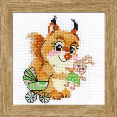 click here to view larger image of Playing House (counted cross stitch kit)