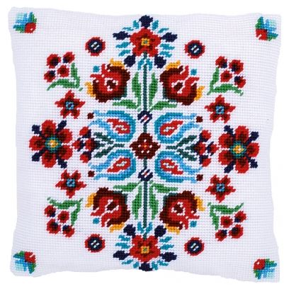 click here to view larger image of Folklore I - Tapestry Cushion by La Maison Victor (counted cross stitch kit)