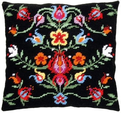 click here to view larger image of Folklore VI - Tapestry Cushion by La Maison Victor (counted cross stitch kit)