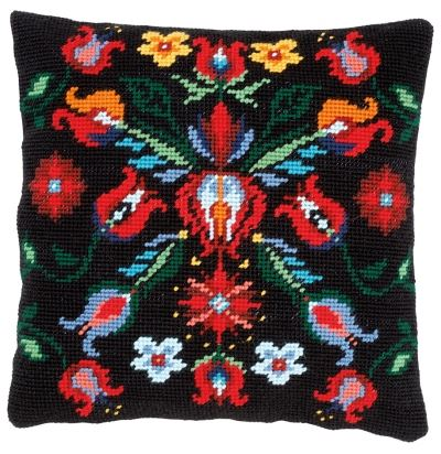 click here to view larger image of Folklore II - Tapestry Cushion by La Maison Victor (counted cross stitch kit)