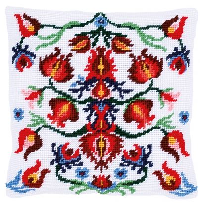 click here to view larger image of Folklore III - Tapestry Cushion by La Maison Victor (counted cross stitch kit)