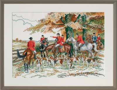 click here to view larger image of Hunt Hounds (counted cross stitch kit)