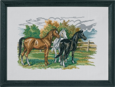 click here to view larger image of Three Horses (counted cross stitch kit)