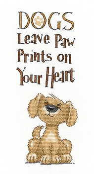 click here to view larger image of Paw Prints - 27ct (counted cross stitch kit)