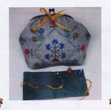 click here to view larger image of Floral Armony Purse w/closure (counted cross stitch kit)