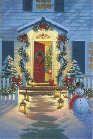 click here to view larger image of Christmas Porch (chart)