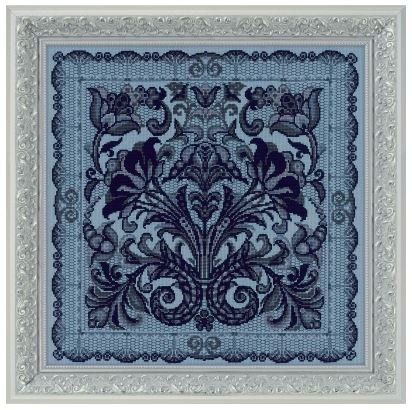 click here to view larger image of Cushion/Panel Spanish Lace (counted cross stitch kit)
