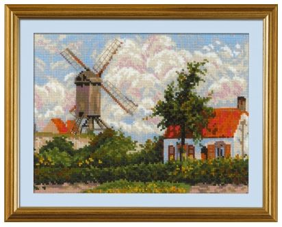 click here to view larger image of Willmill at Knokke after C. Pissarro's Painting (counted cross stitch kit)