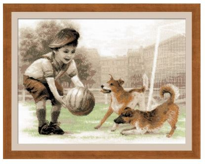 click here to view larger image of Football Team (counted cross stitch kit)