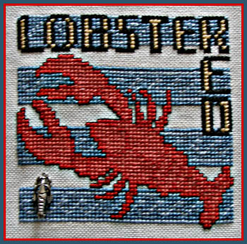 click here to view larger image of WordPlay - Lobster (chart with charms/buttons)
