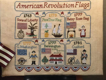 click here to view larger image of American Revolution Flags (chart)