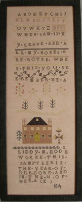 click here to view larger image of Liddy Rodes Sampler 1814 (chart)