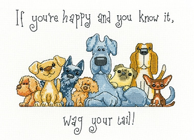 click here to view larger image of Wag Your Tail - Peter Underhill Collection (counted cross stitch kit)