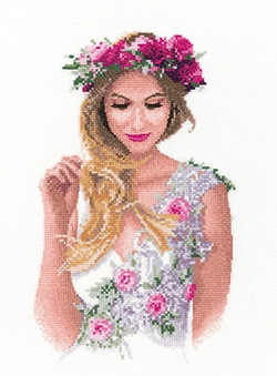 click here to view larger image of Emily -  Elegance by John Clayton (counted cross stitch kit)
