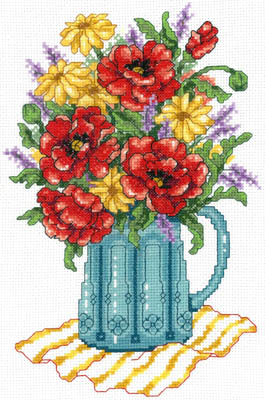 click here to view larger image of Spring Flowers In Vase (chart)
