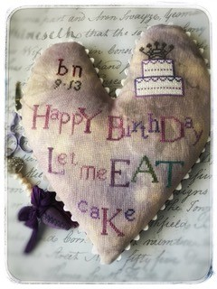 click here to view larger image of Happy Birthday Heart (chart)