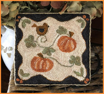 click here to view larger image of Country Pumpkins Punchneedle (Punchneedle)