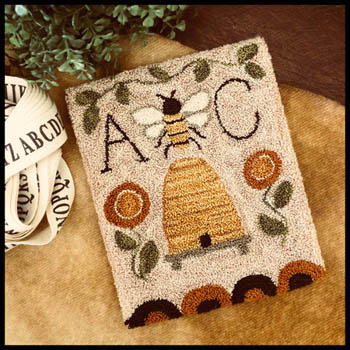 click here to view larger image of Bee Garden Punchneedle (Punchneedle)