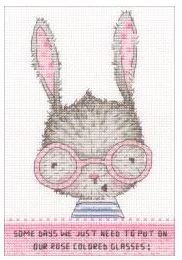 click here to view larger image of Rose Colored Glasses (Pre-order - expected Mid July 2018) (counted cross stitch kit)