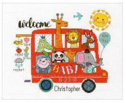 click here to view larger image of Baby on Board (counted cross stitch kit)