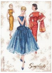 click here to view larger image of Simplicity Vintage (counted cross stitch kit)