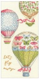 click here to view larger image of Lets Fly Away (counted cross stitch kit)