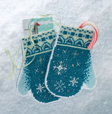 click here to view larger image of Snowflake Mittens (2018) (counted cross stitch kit)