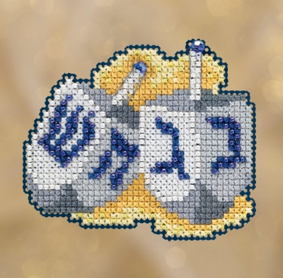 click here to view larger image of Dreidels (2018) (counted cross stitch kit)