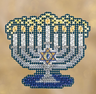 click here to view larger image of Menorah (2018) (counted cross stitch kit)