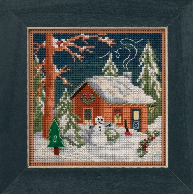 click here to view larger image of Christmas Cabin (2018) (counted cross stitch kit)