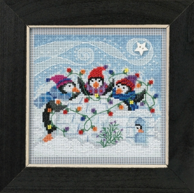 click here to view larger image of Playful Penguins (2018) (counted cross stitch kit)