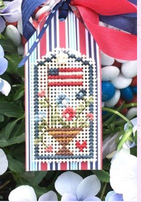 click here to view larger image of Flag Tag (counted cross stitch kit)