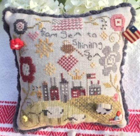 click here to view larger image of From Sea to Sea Pincushion (counted cross stitch kit)
