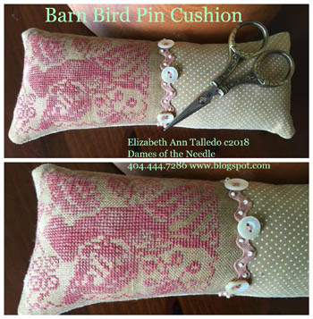 click here to view larger image of Barn Bird Pin Cushion (chart)