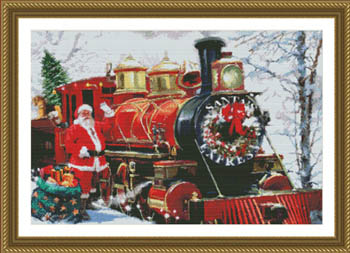 click here to view larger image of Santa's Express Train (chart)