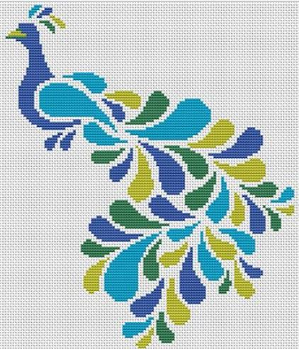click here to view larger image of Abstract Peacock (chart)
