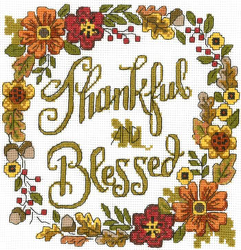 click here to view larger image of Thankful & Blessed (chart)